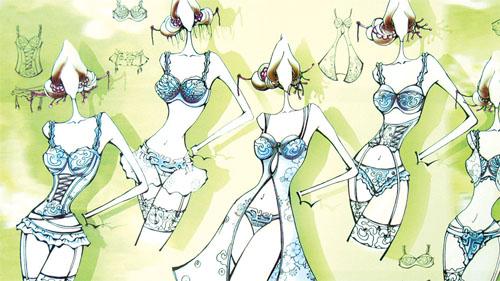 """续写""""心衣""""的传奇——""""欧迪芬杯""""2008中华内衣元素创新设计大赛初评"""